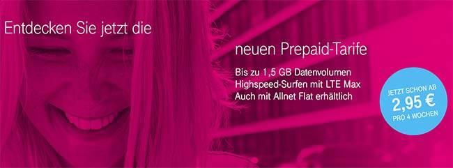 Telekom MagentaMobil Start bis zu 1,5GB LTE ab 3,94€ ohne Laufzeit
