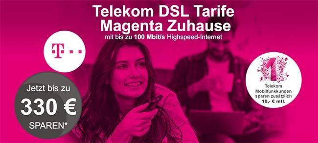 Telekom DSL Magenta Anschluss mit bis zu 330€ Auszahlung