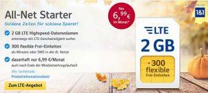 1&1 Tarife ► bis zu 4GB Internet und 400 Frei-Einheiten ab 6,99€