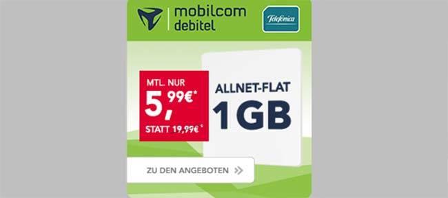 1GB LTE Allnet Flat ohne Datenautomatik für 5,99€