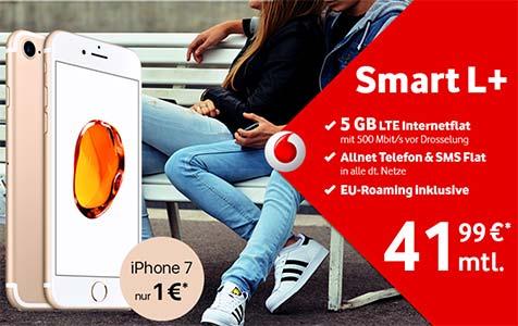 5GB LTE Vodafone Smart L+ mit Apple iPhone 8 für 129€