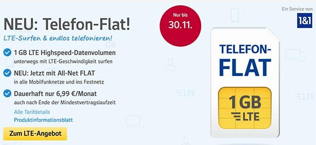 1&1 Tarife ► bis zu 10GB Internet und Telefon Flat ab 6,99€