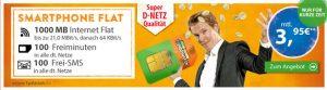 1GB Vodafone Handyvertrag mit 100 Freiminuten für 3,95€