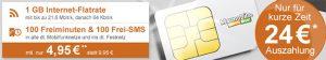 Vodafone Netz ► 1GB Handyvertrag mit 100 Freiminuten für 4,95€