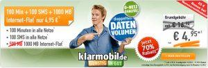 Vodafone Netz: 1GB Internet Flat mit 100 Freiminuten für 4,95€