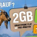 Telekom Netz ► 2GB Internet Flat mit 100 Freiminuten für 7,95€