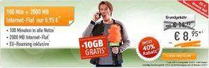 2GB Tarif im Telekom Netz mit 100 Freiminuten für 8,95€