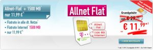 1,5GB Telekom Allnet Flat für 11,99€