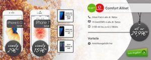 Apple iPhone 7 für 159€ mit Vodafone Comfort Allnet (2GB) für 29,99€