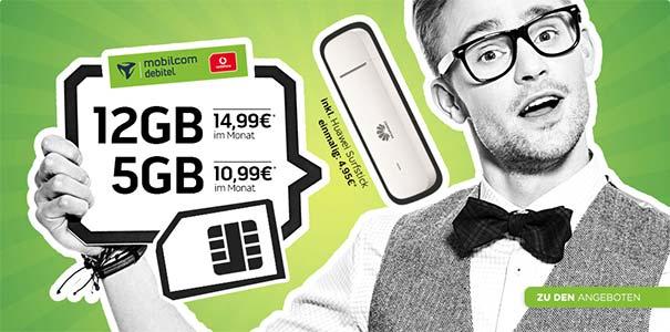 Bis zu 12 GB LTE - Vodafone Internet Flat ab 10,99€