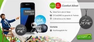 Vodafone Comfort Allnet (2GB) ab 24,99€ mit TOP Smartphones ab 1€