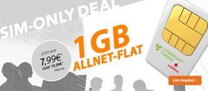 1GB Vodafone Allnet Flat für 7,99€