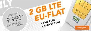 2GB LTE Allnet Flat und EU-Roaming für 9,99€