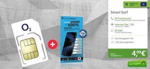 1GB LTE o2 Smart Surf für 4,99€