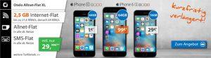 2,5GB OTELO Allnet Flat XL für 29,99€ mit TOP Handy für 1€