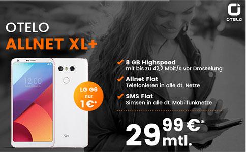 8GB OTELO Allnet Flat XL+ für 29,99€ mit Galaxy S8 für 39€