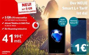 Samsung Galaxy S8 für 1€ mit Vodafone Smart L+ (5GB LTE)