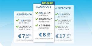 Telekom Allnet Flat mit bis zu 4GB Internet Flat ab 7,90€ *Update*