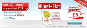 2GB Vodafone Allnet Flat für effektiv 9,99€