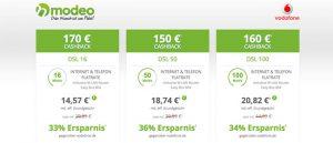 Vodafone DSL mit bis zu 170€ Auszahlung
