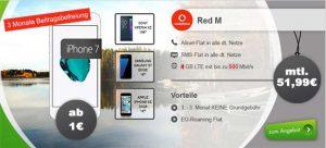 Vodafone RED M (4GB LTE) mit TOP Smartphones ab 1€ ★ 3 Monate gratis ★