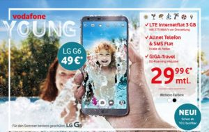 Vodafone Young Tarife mit bis 10 GB LTE ab 24,99€