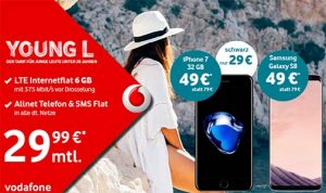 Vodafone Young Tarife (bis 10 GB LTE) ab 24,99€