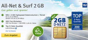 web.de 2GB mit 100 Freiminuten für 6,99€ im Vodafone Netz