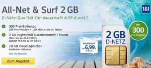 web.de Vodafone mit bis zu 4GB Internet Flat + Freiminuten ab 6,99€
