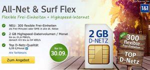 web.de D-Netz Tarife mit bis zu 4GB Internet & Freiminuten ab 6,99€