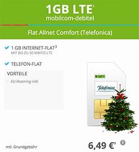 1GB LTE Allnet Flat ohne Datenautomatik für 6,49€