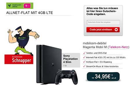 Playstation 4 Slim für 1€ mit MD Telekom Magenta Mobil M für 34,95€