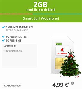 2gb mobilcom debitel smart surf f r 4 99 vodafone netz. Black Bedroom Furniture Sets. Home Design Ideas