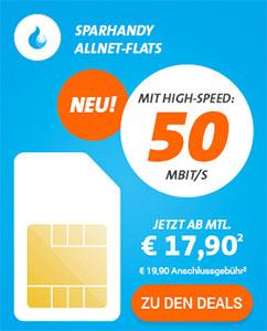 Telekom LTE Allnet Flat mit bis zu 8GB Internet Flat ab 17,90€