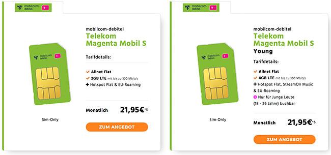 MD Telekom Magenta Mobil S für rechnerisch 21,95€