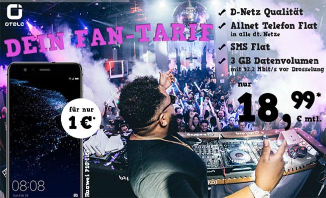 3GB OTELO Fan Tarif ab 18,48€ mit Smartphone ab 1€