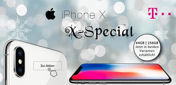 Telekom Magenta Mobil L (bis 12GB LTE) mit Apple iPhone X ab 99€
