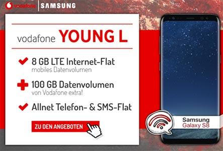 Vodafone Young Tarife mit bis zu 14 GB LTE Internet Flat ab 13,99€