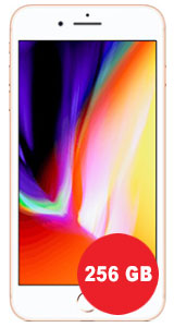 Apple iPhone 8 Plus 256GB mit otelo Allnet-Flat Max 8GB