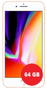 Apple iPhone 8 Plus 64GB mit SimDiscount Allnet-Flat 1 GB LTE