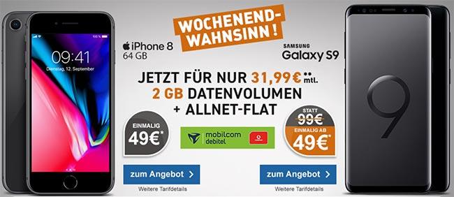 2GB Vodafone Comfort Allnet 31,99€ mit TOP Smartphones ab 1€