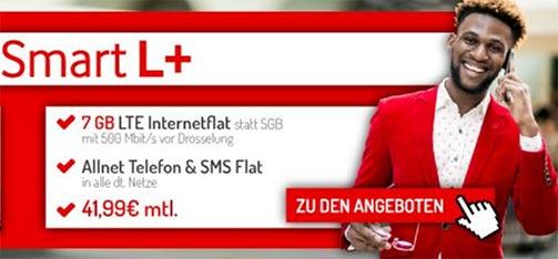 Vodafone Smart L Plus (bis zu 7GB LTE) mit Apple iPhone 8 für 29€