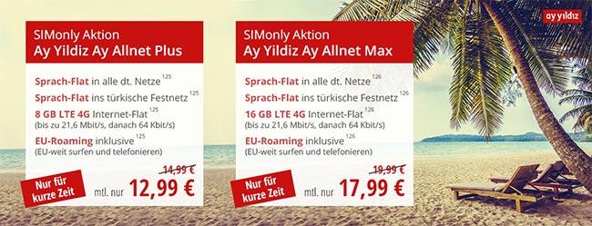 Ay Yildiz Ay Allnet Vertrag (bis zu 16GB) ab 7,99€