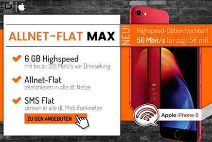 otelo Allnet-Flat Max 6GB - Angebote Mai 2018