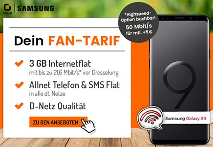 3GB OTELO Fan Tarif (LTE) ab 18,48€ mit Smartphone ab 1€