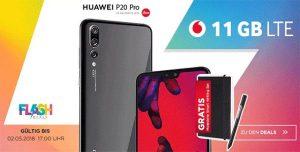 11GB LTE Vodafone Smart XL mit TOP Smartphones für 1€