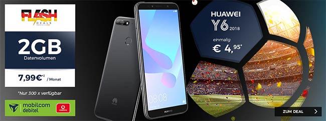 2GB Allnet Flat Tarif für 7,99€ mit Smartphone für 4,95€