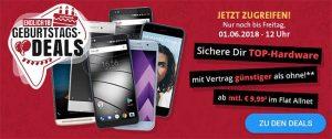 1GB Allnet Flat Tarif für 9,99€ + Smartphone für 1€