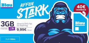Blau Allnet Tarife mit 40€ Auszahlung | ohne Datenautomatik