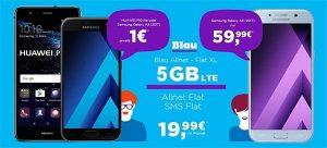 Blau Allnet XL (5GB LTE) mit Smartphone ab 1€